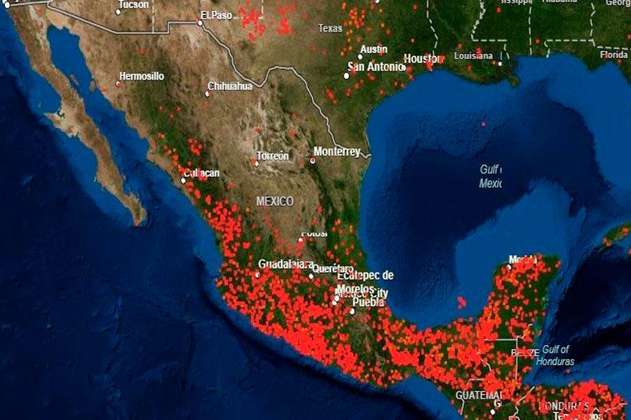 La Nasa Comparte Como Se Ven Los Incendios Forestales En Mexico