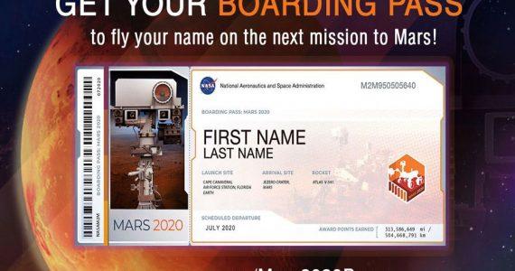 TU nombre a Marte