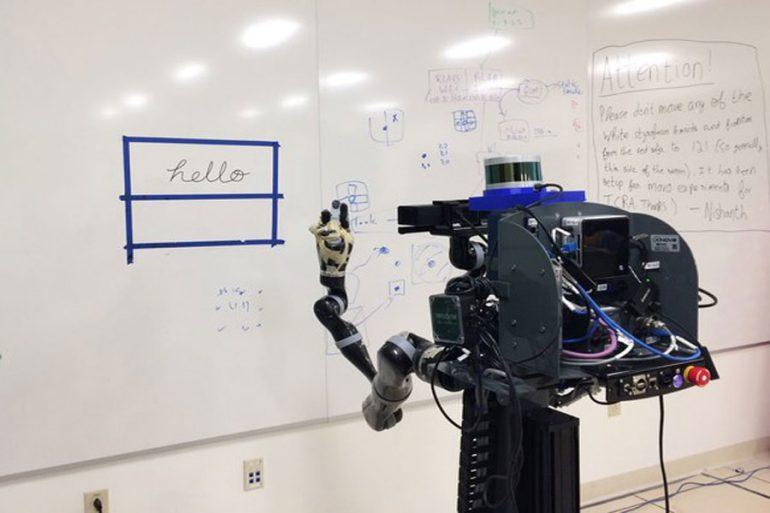 robot escribir dibujar