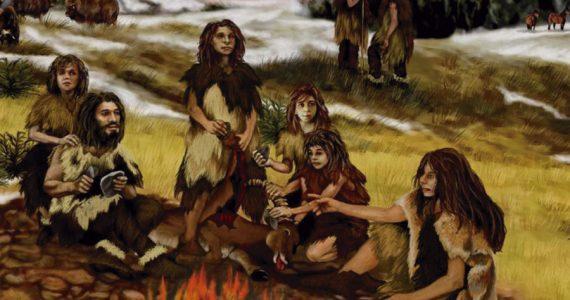 neandertales pegamento