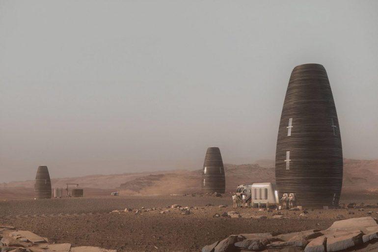 casas para habitar Marte