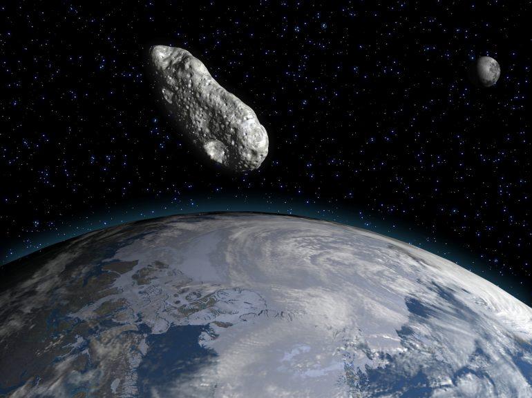 asteroide del tamaño