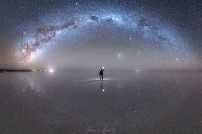 reflejo de la Vía Láctea