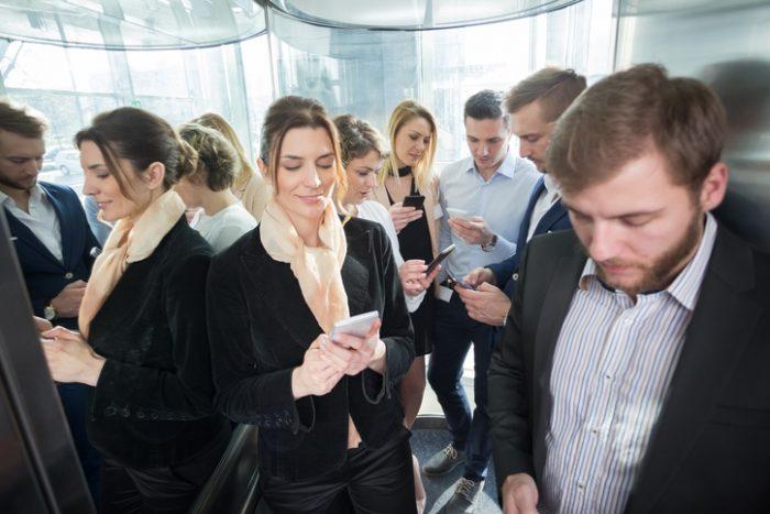 espejos en los elevadores