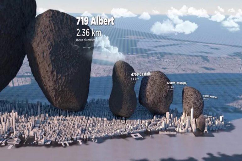 tamaño de asteroides