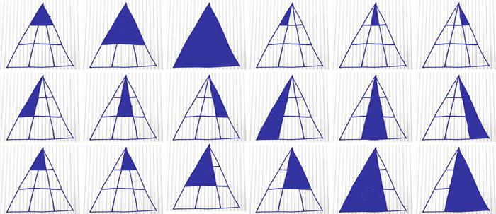 cuántos triángulos