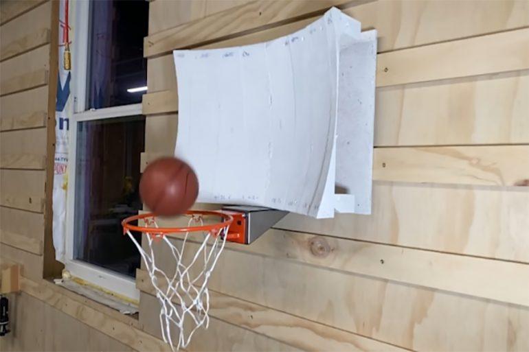 canasta de baloncesto Shane Wighton