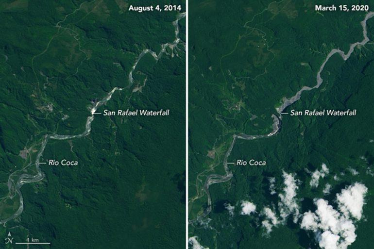 cascada más larga de Ecuador