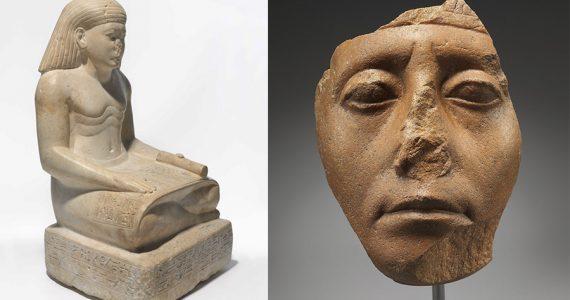 esculturas egipcias narices rotas