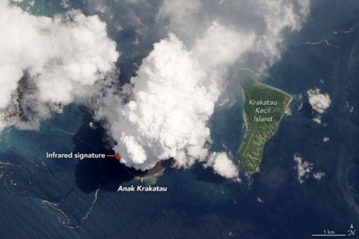 volcán anak krakatau erupción