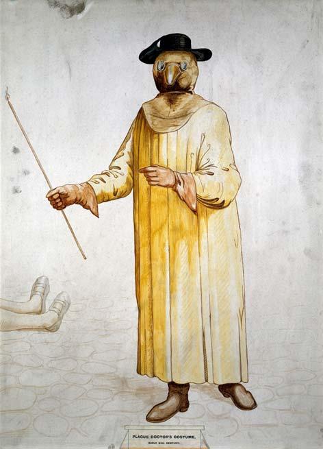 outfit médico de la peste