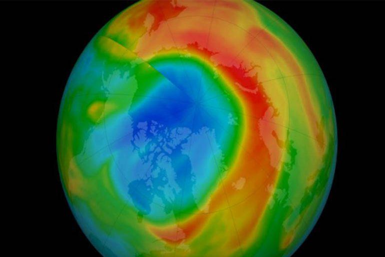 Agujero de ozono ártico