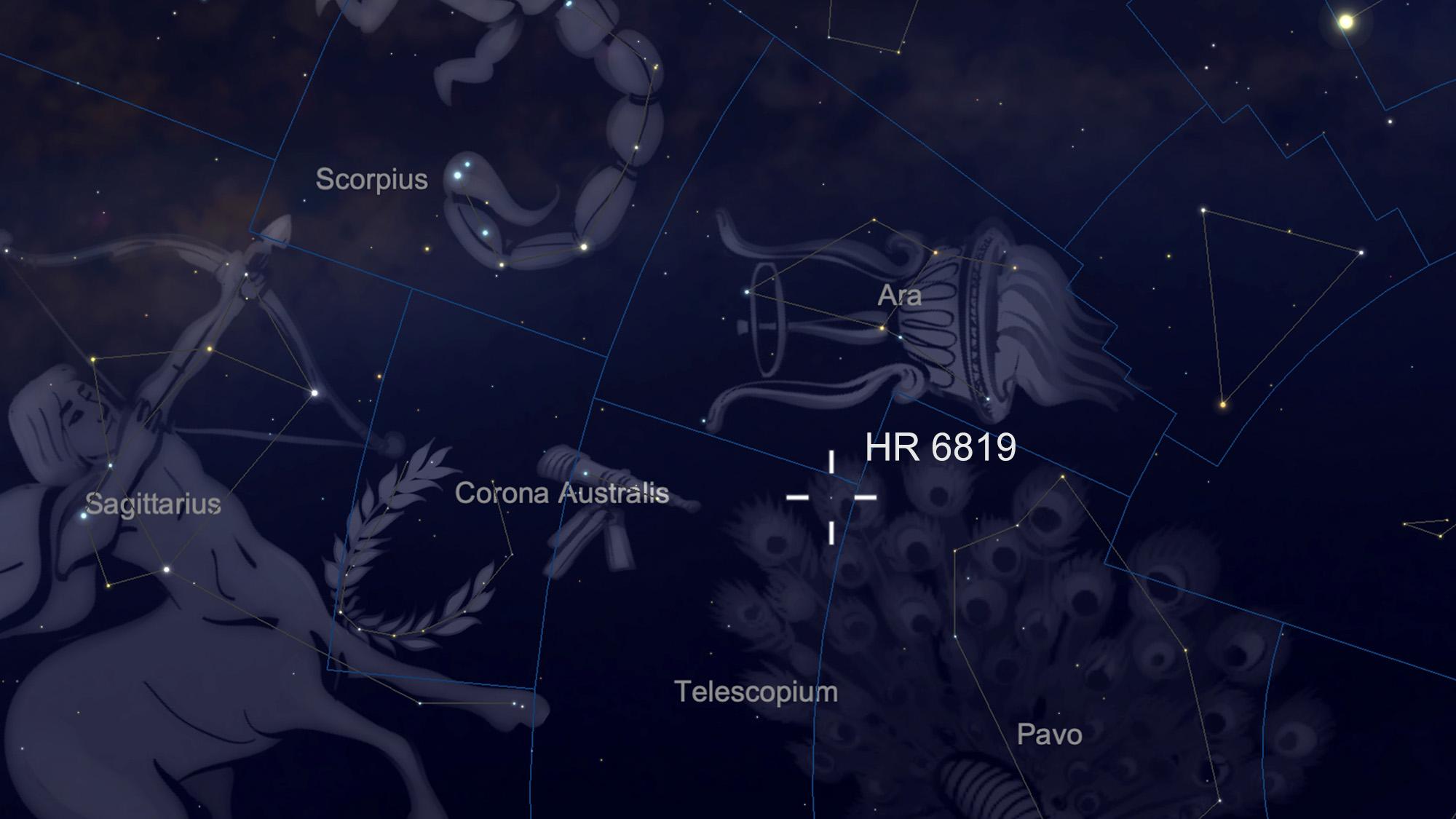 agujero negro más cercano a la Tierra
