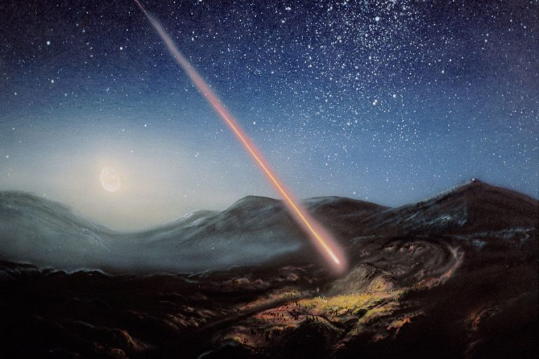 muerte meteorito