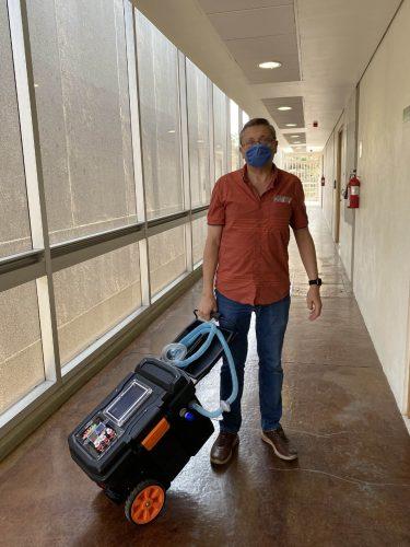 UNAM respirador portátil personas COVID-19