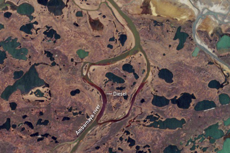 Imágenes satelitales diésel