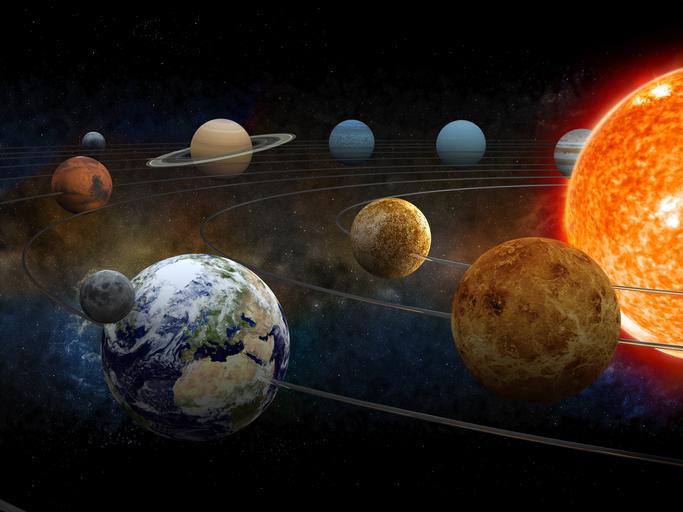 planetas sistema solar animacion