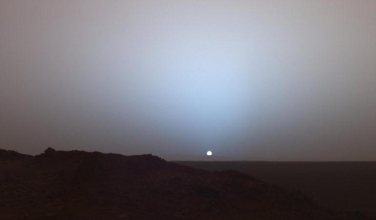 Atardecer en Marte