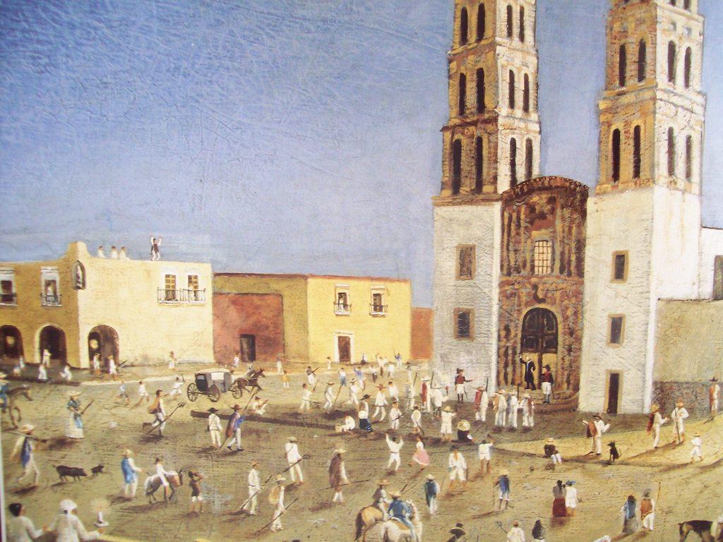 Grito de Miguel Hidalgo Independencia de Mexico pintura óleo