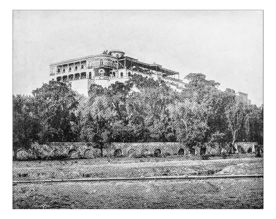 imagenes del castillo de chapultepec a finales del siglo XIX