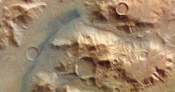 Montañas en Marte