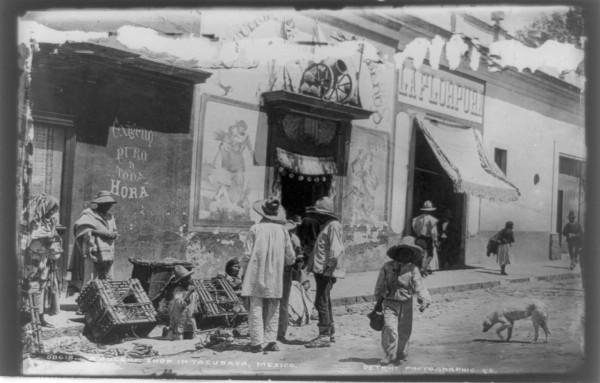 Pulqueria en Tacubaya en tiempos del Porfiriato
