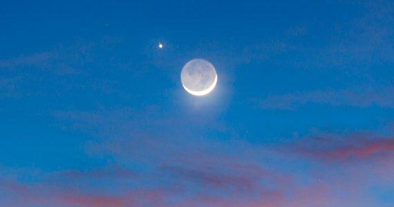 conjunción Marte-Luna