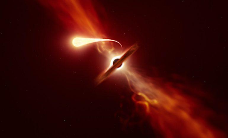 agujero negro espaguetificación
