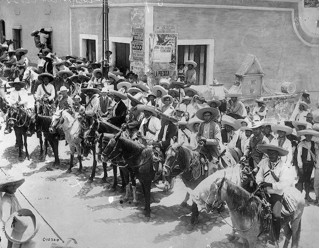 Revolución Mexicana Villa y Zapata silla presidencial