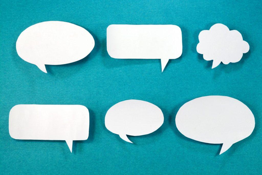 globos de conversación sin fondo rae