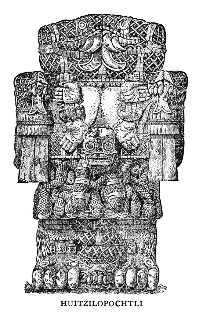 prehispanico Huitzilopochtli Panquetzaliztli tradiciones de Mexico