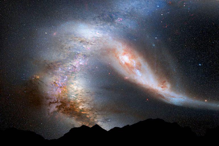 Andrómeda y Vía Láctea