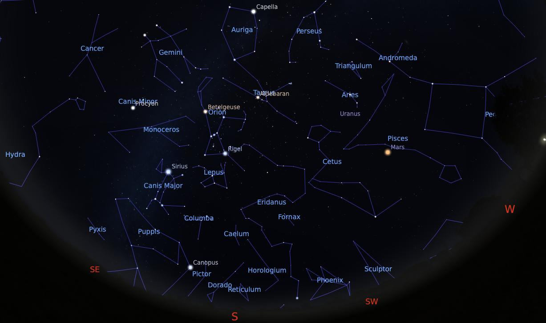 planetas en el cielo nocturno