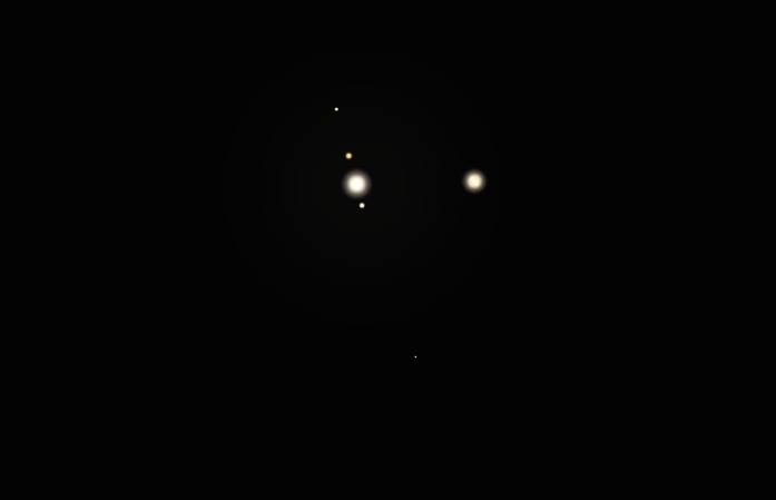 jupiter y saturno binoculares
