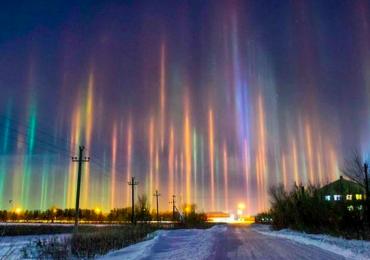 luces en el cielo