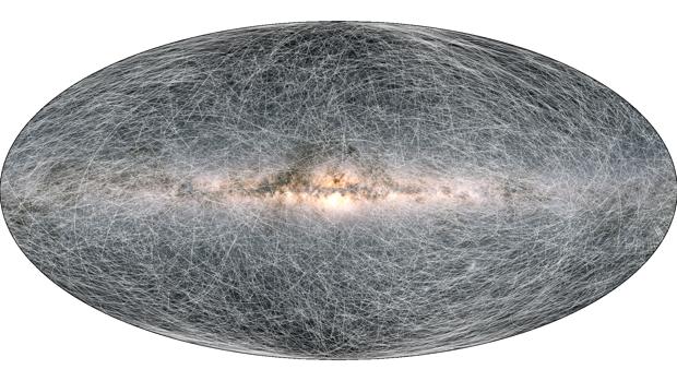 el mapa más detallado de la Vía Láctea