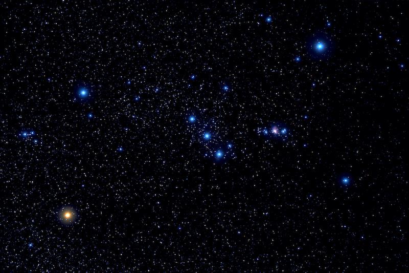 Orión estrellas de los Reyes Magos