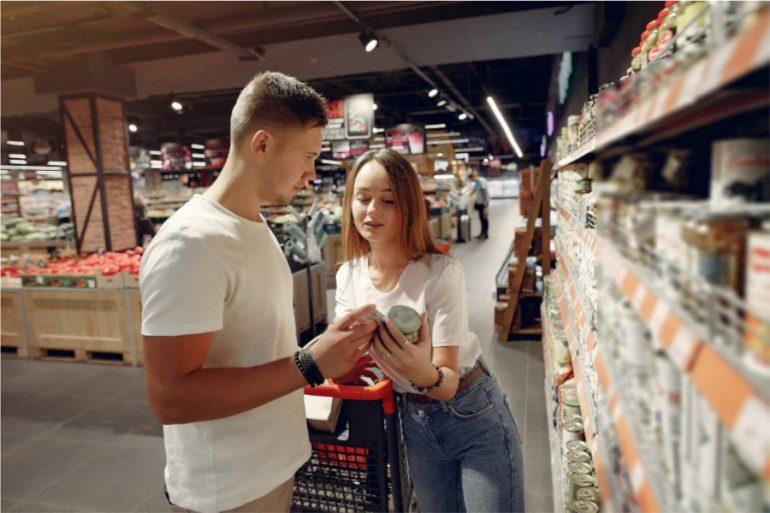 Psicología del color en supermercados