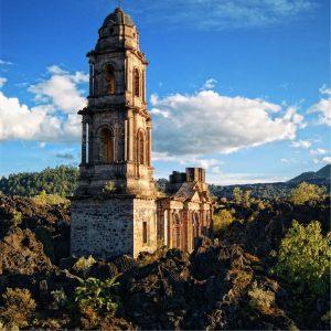 Iglesia del Volcán Paricutín