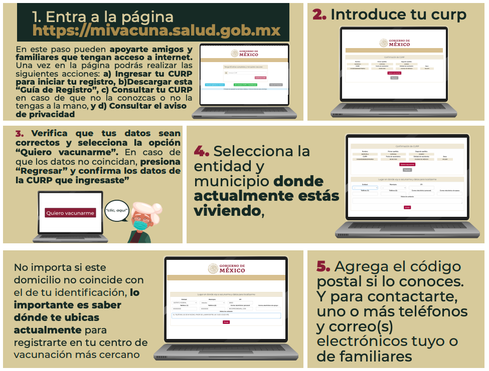 vacuna Covid-19 México 7 a 10