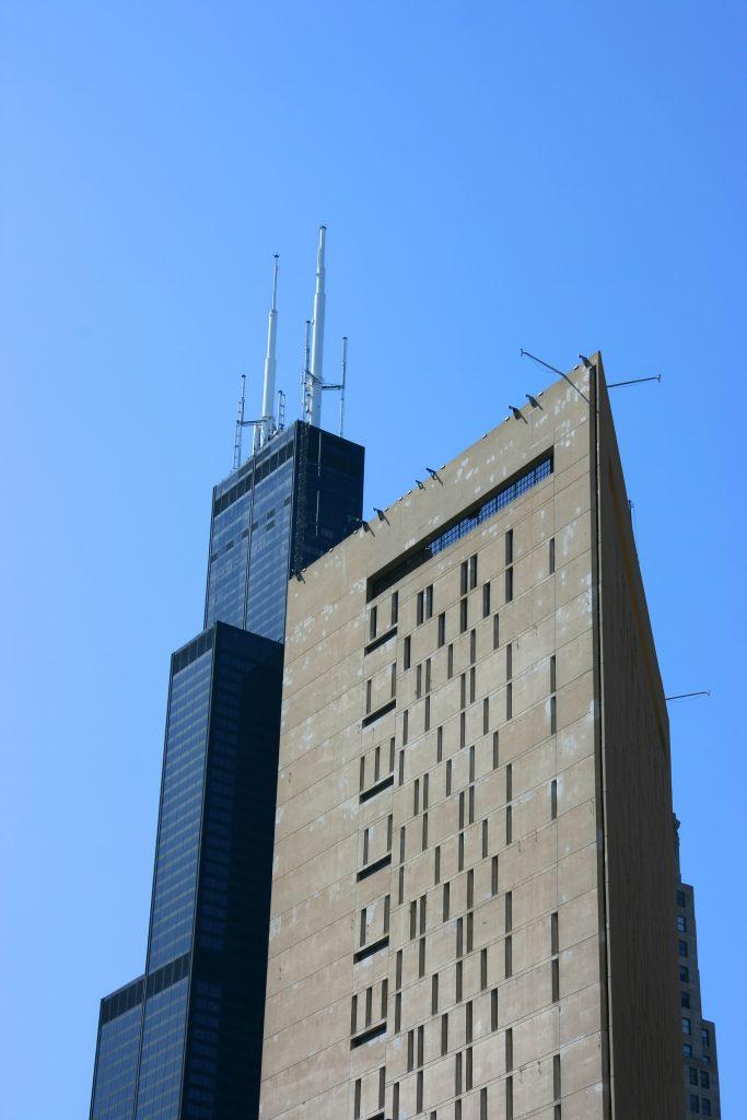 Prisión vertical de Chicago vista exterior