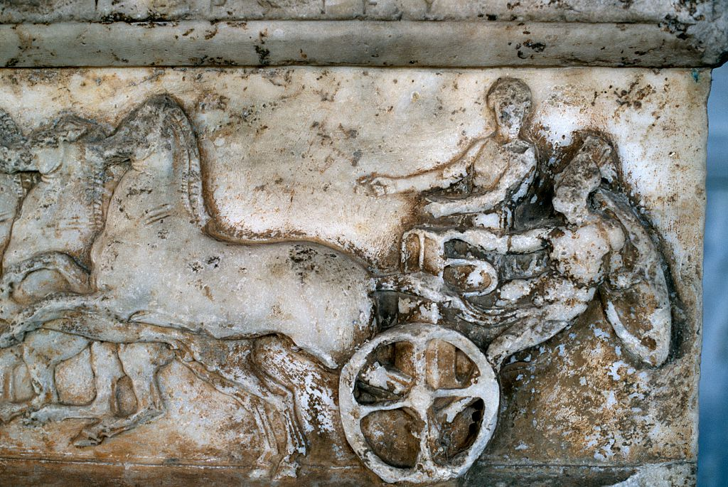 Carrera de caballos en los Juegos Olímpicos en la Antigüedad