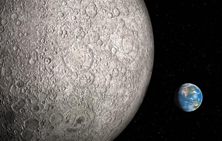 explicación sobre el brillo de la luna