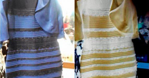 Vestido que se ve de dos colores (ilusión óptica)