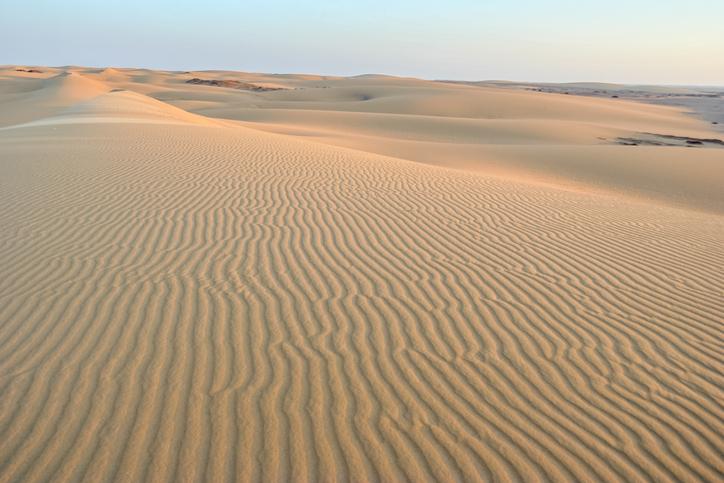 vista panorámica del desierto de egipto