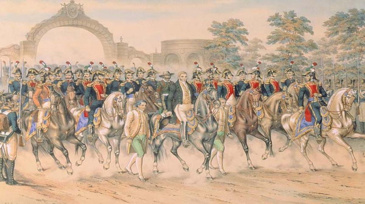 Entrada del ejército trigarante a la Ciudad de México